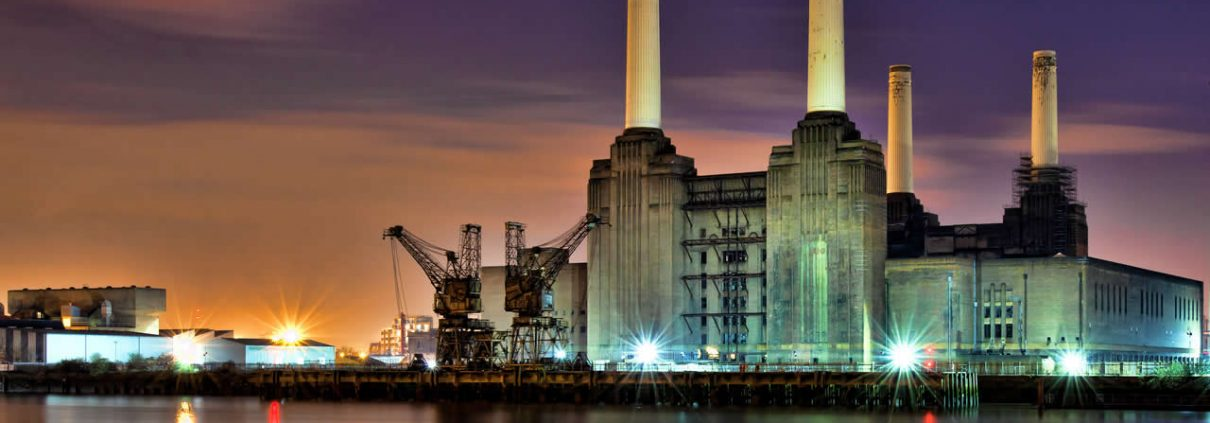 Battersea Power Station at night