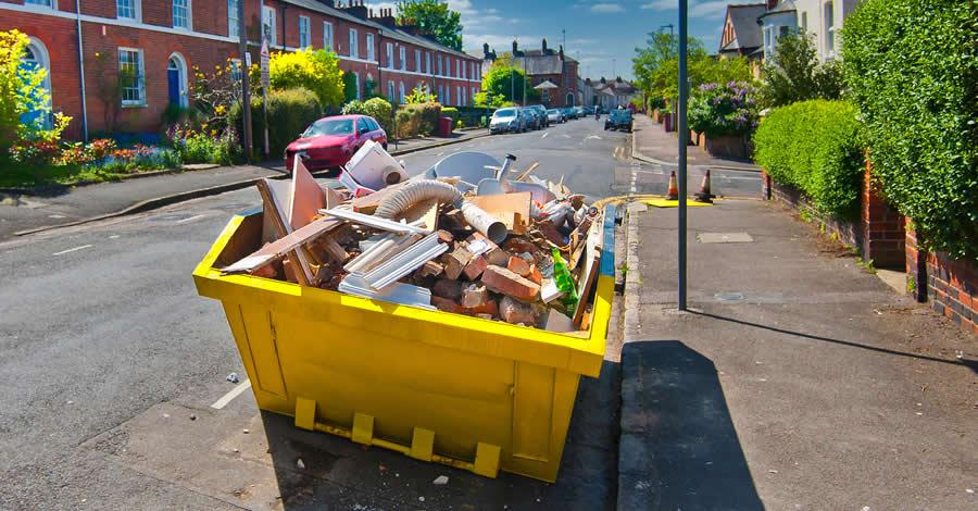 Residential Docklands skips