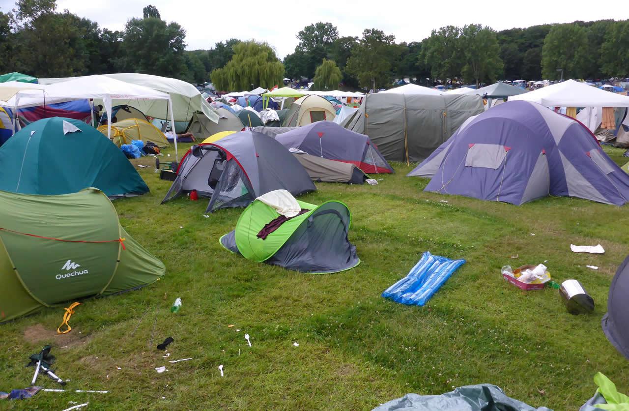 Dumped festival tents