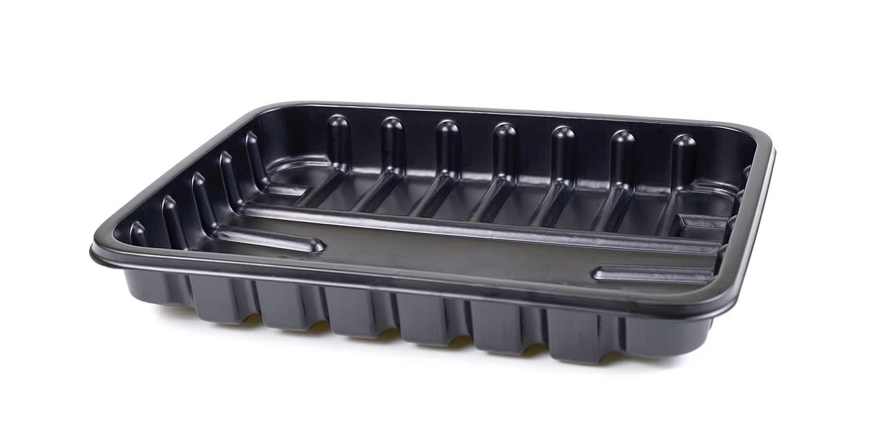 Black plastic food trays banned