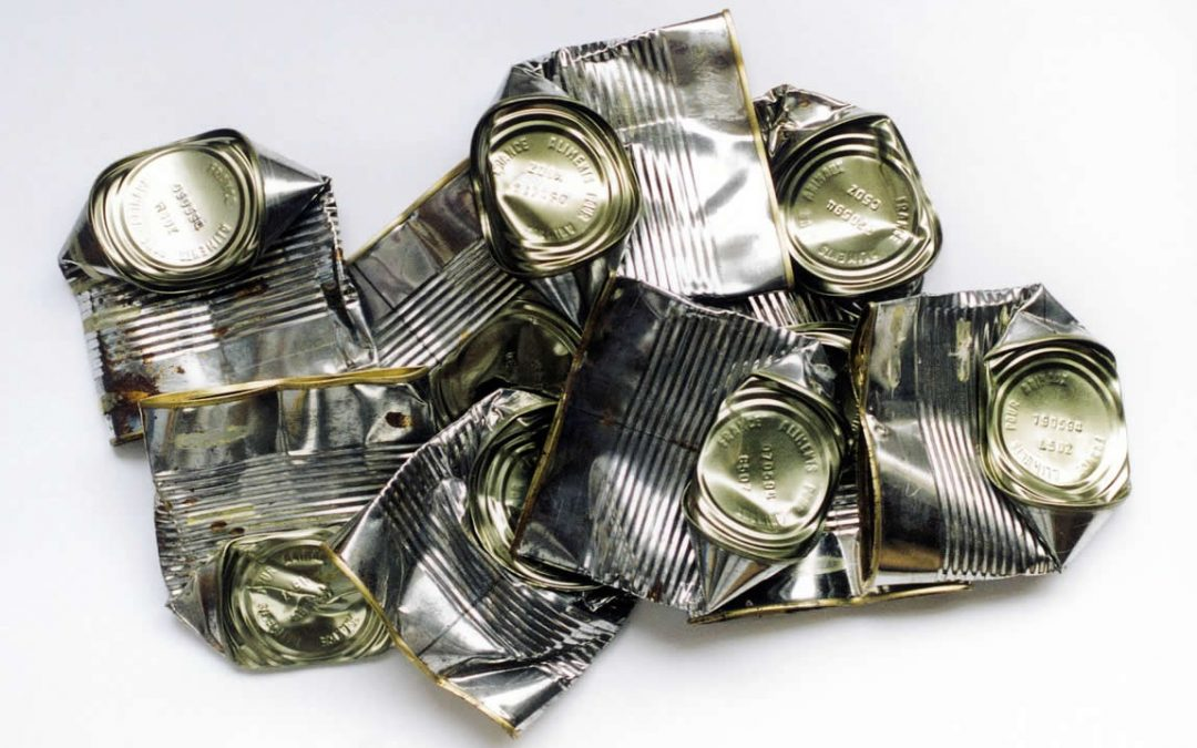 Do I crush tin cans for recycling?