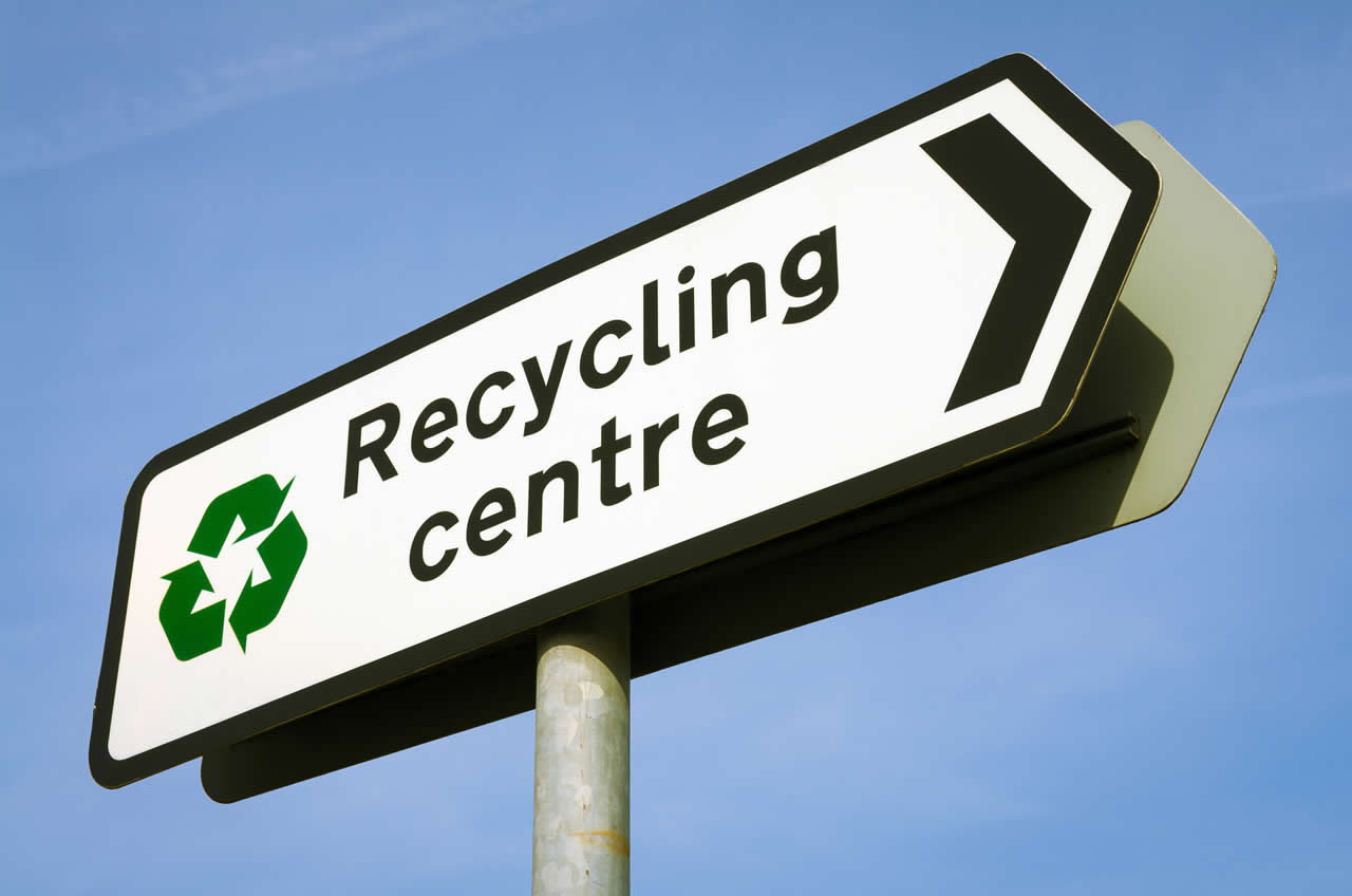 Local council recycling centre